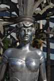 Mae West, Hollywood Boulevard. Statue of Mae West. Hollywood Walk of Fame consists of more than 2,500 stars embedded in the sidewalks along Hollywood Boulevard Stock Image