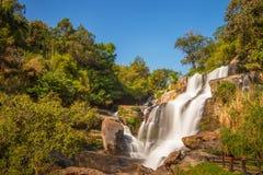 Mae-Ya瀑布, Jomthong, Chiangmai,泰国 免版税库存照片