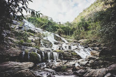 Mae Ya waterfall ,Chiang Mai province. Thailand ,vintage style Stock Photography