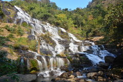 Mae Ya  Waterfall. Waterfall in Deep forest at Doi Inthanon National Park is located Royalty Free Stock Photography