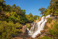 Mae-Klang Waterfall, Jomthong, Chiangmai, Thailand. Mae-Klang Waterfall is located near Doi Inthanon mountain, Jomthong district, Chiangmai, Northern of thailand Royalty Free Stock Photos