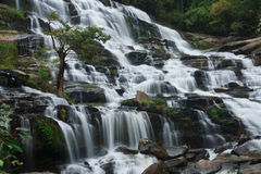 Mae Ya waterfall. And large. Northern Thailand Royalty Free Stock Images
