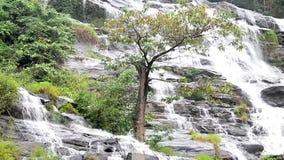 Mae Ya Waterfall, Panning shot. stock video