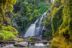 Mae Ya Waterfall in Rain Forest at Doi Inthanon National Park in Chiang Mai ,Thailand royalty free stock image