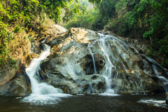 Maehaat waterfall at wianghang in Chiangmai. Maehaat waterfall at wianghang in Chiangmai, Thailand Stock Photos