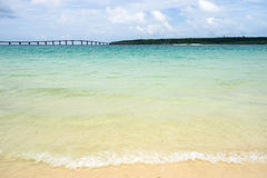 Maehama plaża i Kurima most Zdjęcia Royalty Free