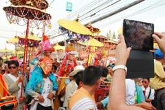 Maehongson Tailandia de Pai El Poi cantó festival largo 3 Apirl 2016 foto de archivo libre de regalías