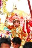 Maehongson Tailandia de Pai El Poi cantó festival largo 3 Apirl 2016 fotos de archivo libres de regalías