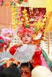 Maehongson Tailandia de Pai El Poi cantó festival largo 3 Apirl 2016 fotografía de archivo