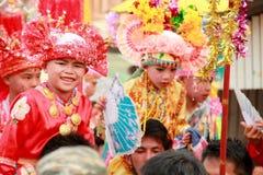 Maehongson Tailandia de Pai El Poi cantó festival largo 3 Apirl 2016 Imágenes de archivo libres de regalías