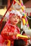Maehongson Tailandia de Pai El Poi cantó festival largo 3 Apirl 2016 Fotos de archivo