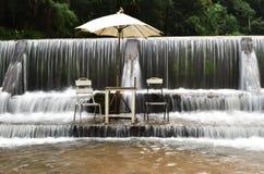 Maekhumpong waterfall Chiang Mai Thailand stock image