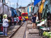 Maeklong-Markt, Samutsongkram, Thailand Lizenzfreies Stockfoto