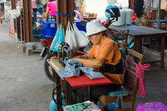 Maeklong Railway Market Stock Photo
