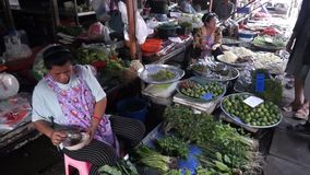 Maeklong Railway Market stock video footage