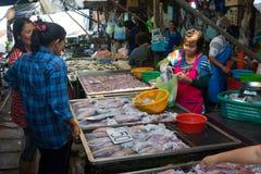 Maeklong Railway Market stock photos