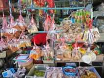 MAEKLONG, THAILAND-DECEMBER 11,2016 : Assaisonnement, ingrédient de nourriture, en vente sur le marché Photos libres de droits