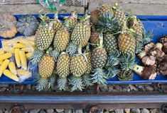MAEKLONG, THAILAND-DECEMBER 11,2016 : The famous railway market or folding umbrella market at Maeklong, Thailand, A famous market Stock Images