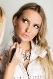 Maekup model and beautician Royalty Free Stock Image