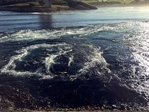 Maelstrom. World's strongest maelstrom, in saltstraumen Royalty Free Stock Photo
