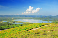 Maemoh National Park. Lampang Thaoland, is the National Park in EGAT, Electricity Generation Authority of Thailand Royalty Free Stock Photo