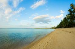 Maenam海滩,苏梅岛,泰国 库存照片