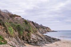 Maenporth strand - Cornwall Royaltyfria Bilder