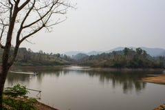 Maepern reservoir in chiangrai Thailand Royalty Free Stock Photo