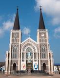 Maephra Patisonti Niramon Church, CHANTABURI, THAILAND Arkivbilder