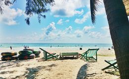 Maerampungs-Strand im rayong Thailand lizenzfreies stockbild