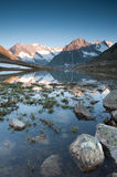 Maerjelensee in early morning Royalty Free Stock Images