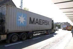 MAERSK-BEHÄLTER Stockbild