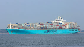 Maersk container ship Stock Image