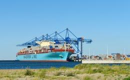 Maersk a Ilha de Elba em DCT Gdansk Imagem de Stock