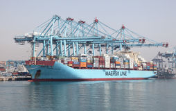 Maersk Line container ship Royalty Free Stock Photography