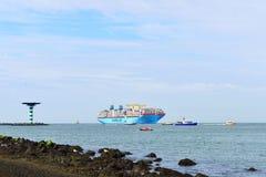 Maersk Mc-Kinney moller container ship Stock Photos