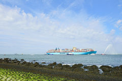 Maersk Mc-Kinney moller container ship Stock Images