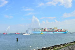 Maersk Mc-Kinney moller container ship Royalty Free Stock Photo
