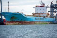 Free MAERSK Ship PEMBROKE In Rotterdam Harbor Stock Photos - 128667093