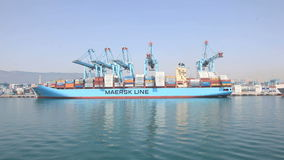 Maersk Zeile Containerschiff stock video
