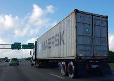 Maerskvrachtwagen Stock Fotografie