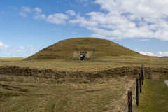 Maeshowe chambered kopiec Orkney Obraz Royalty Free