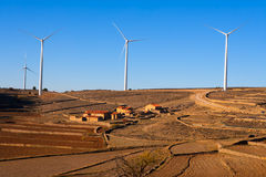 Maestrazgo in Castellon Windmills with traditional rural life Stock Photography