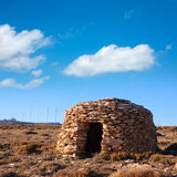 Maestrazgo shepherd shelter in Castellon Windmills Royalty Free Stock Image
