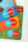 maestro τραπεζικών καρτών Στοκ εικόνα με δικαίωμα ελεύθερης χρήσης