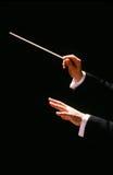 Maestro com bastão foto de stock royalty free