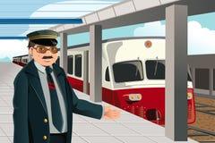 Maestro de trem ilustração do vetor
