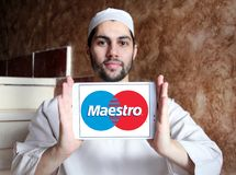 Maestro debit card logo Royalty Free Stock Images
