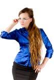 Maestro di scuola sexy con capelli lunghi Fotografie Stock