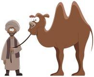 Maestro e camelo ilustração royalty free
